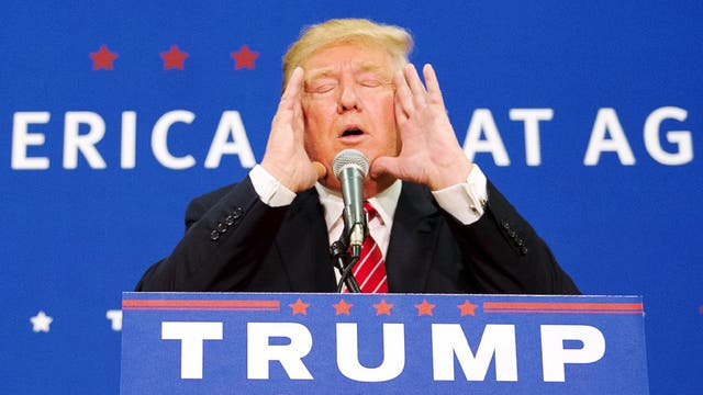 El precandidato republicano Donald Trump
