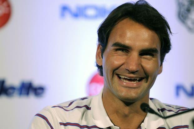Muchas sonrisas de Federer