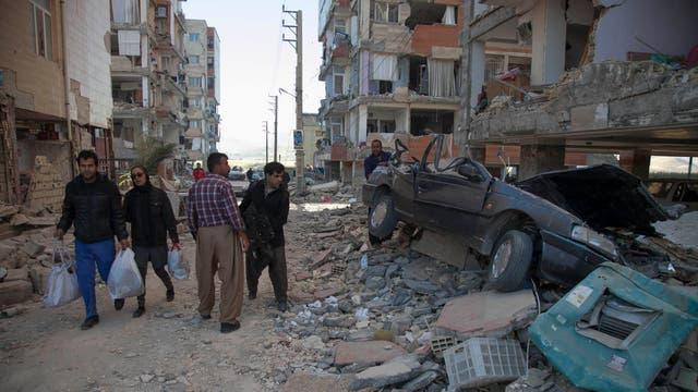 El epicentro del terremoto, de 7,3 grados en la escala de Richter, estuvo a 31 kilómetros de la ciudad de Halabja