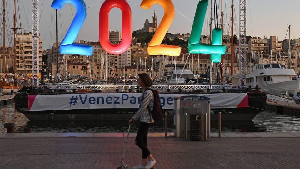 París festeja la realización de los Juegos Olímpicos 2024 en Francia. Foto: Reuters / Boris Horvat