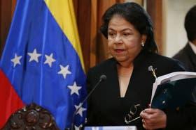 La presidenta del TSJ, Luisa Estela Morales, comunicó la decisión judicial sobre la jura de Chávez