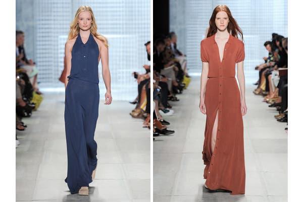 Lacoste, vestidos largos con líneas simples y priorizando la comodidad. Foto: Gentileza Lacoste