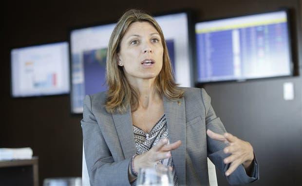 Isela Costantini, presidenta de Aerolíneas, en un reciente encuentro con la prensa