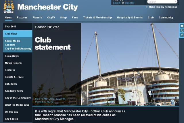 El anuncio oficial en la web del club inglés
