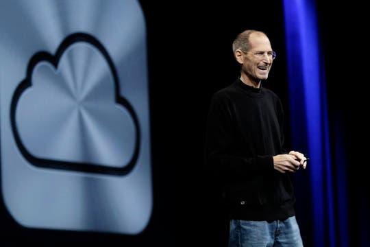 iCloud, el servicio anunciado por Jobs, será gratuito, con una capacidad de almacenamiento de 5 GB. Foto: AP