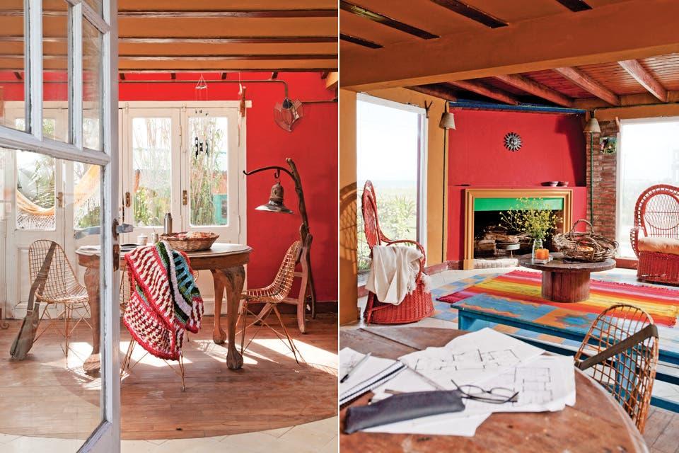 Dos propuestas de color para las paredes de tu living