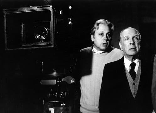 Con Héctor Olivera durante la filmación de El Muerto. Foto: Archivo / LA NACION