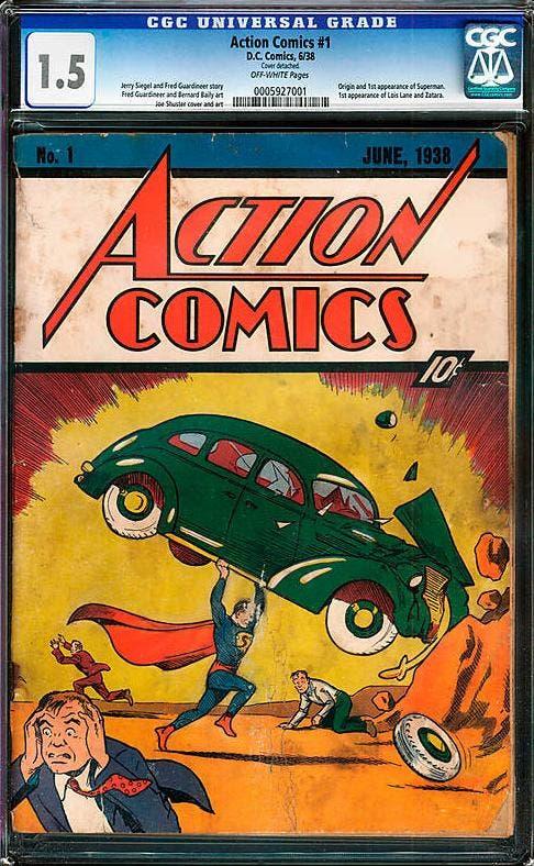 Portada del cómic de Superman de 1938 vendido en 175.000 dólares