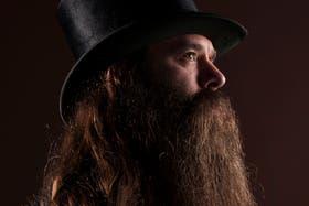Un argentino compite en el mundial de barbas