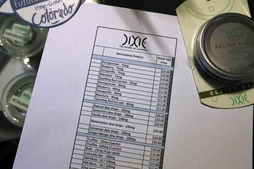 Los clientes pudieron elegir los productos presentados en un menú. Foto: AP