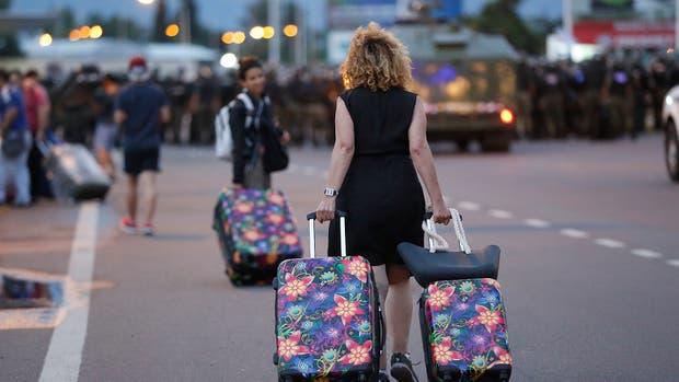Un protesta complica el acceso al aeropuerto
