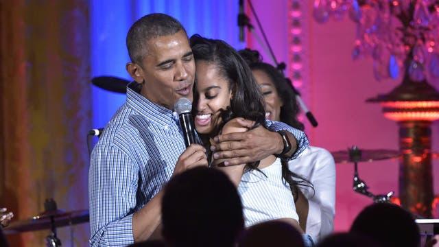 Obama y su hija Malia