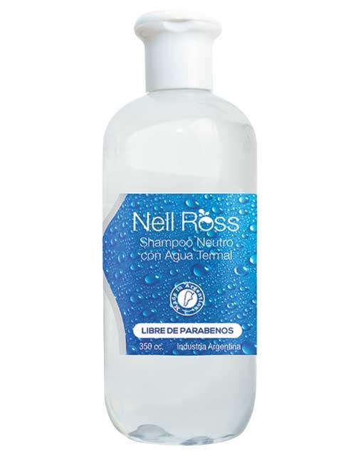 Shampoo de Agua Termal Neutro. Hidrata, nutre, repara y fortalece. Equilibra el pH ($135, Nell Ross).