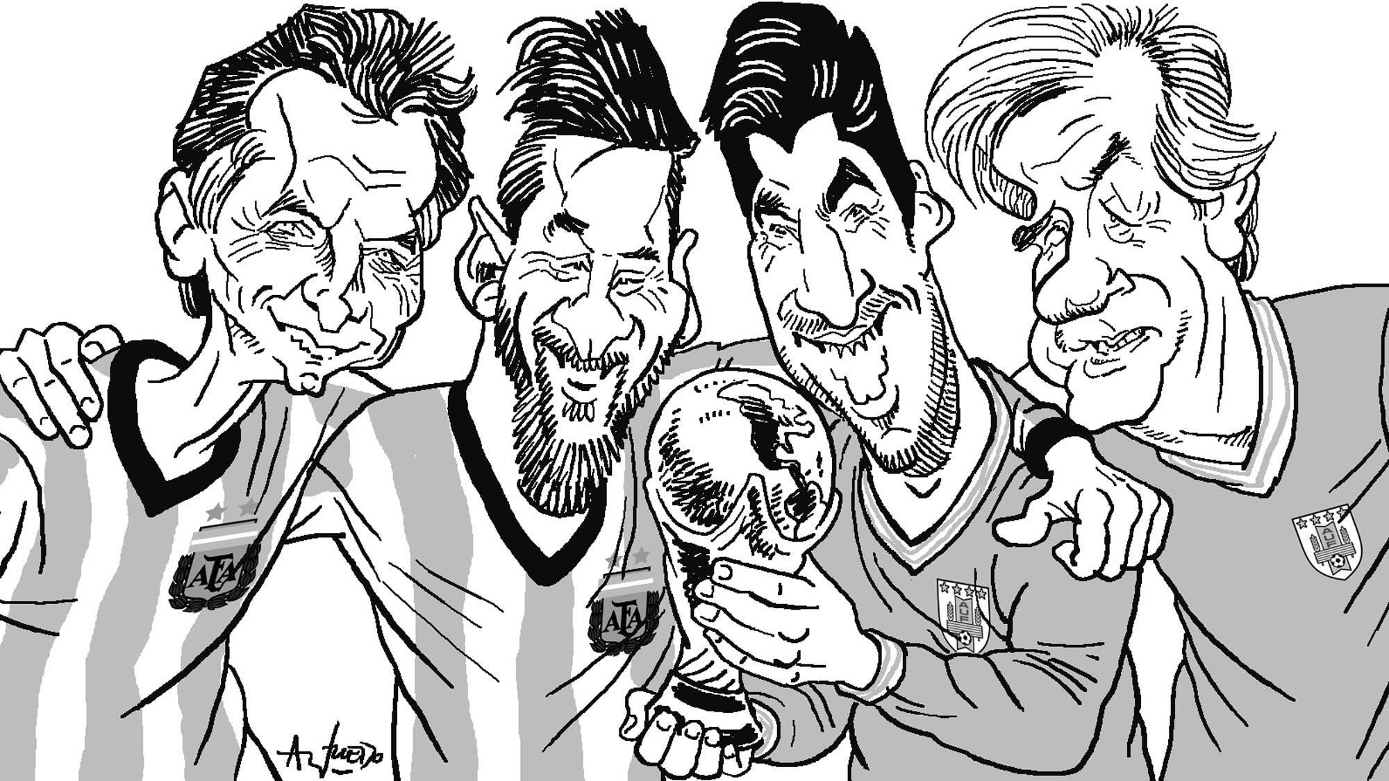 Macri-Messi y Tabaré-Suárez, la fórmula para impulsar el Mundial de fútbol 2030