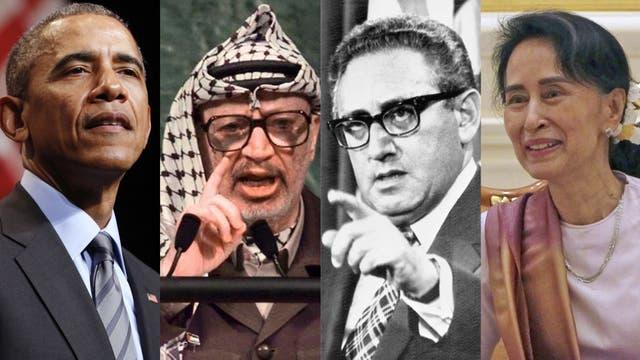Barack Obama Yasser Arafat Henry Kissinger y Aung San Suu Kyi