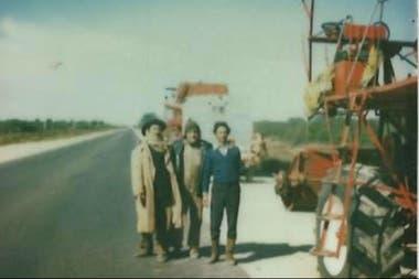 La familia Ratti en camino a Salta, en pleno invierno