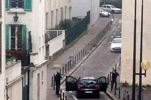 Los terroristas se enfrentaron con la policía pero lograron huir. Foto: AFP