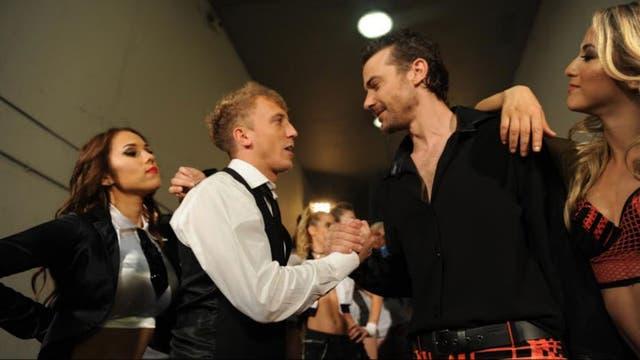 Los finalistas El Polaco y Pedro Alfonso en el musical de apertura