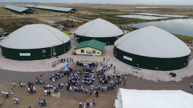 El biodigestor que Adecoagro inauguró recientemente en la zona de Venado Tuerto