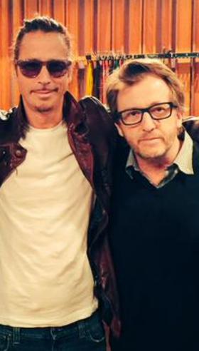 Chris Cornell junto al productor Brendan O''Brien