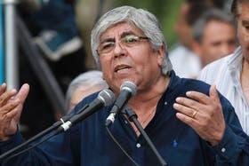 Moyano lidera una protesta sectorial antes del paro nacional del martes próximo