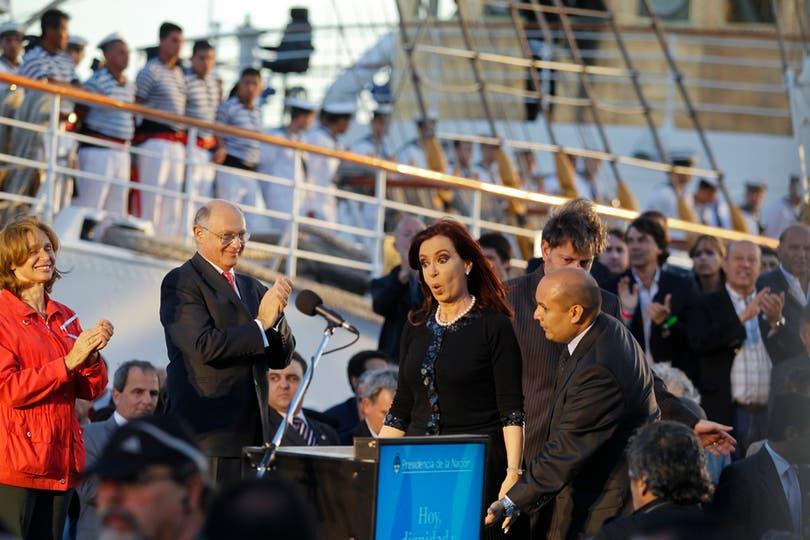 Cristina durante su discurso. Foto: LA NACION / Rodrigo Néspolo