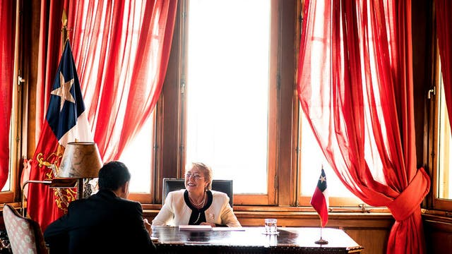 La presidenta chilena Michelle Bachelet