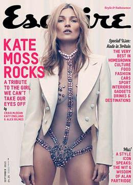 La tapa de la revista, donde se la ve a Kate de lo más sensual. Foto: Revista Esquire