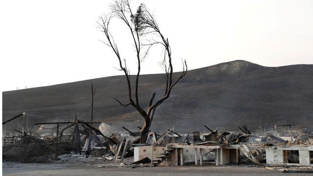 Después del fuego, la desolación y empezar de nuevo