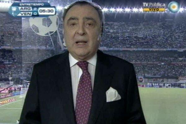 Araujo volvió a relatar a la selección en Fútbol para Todos