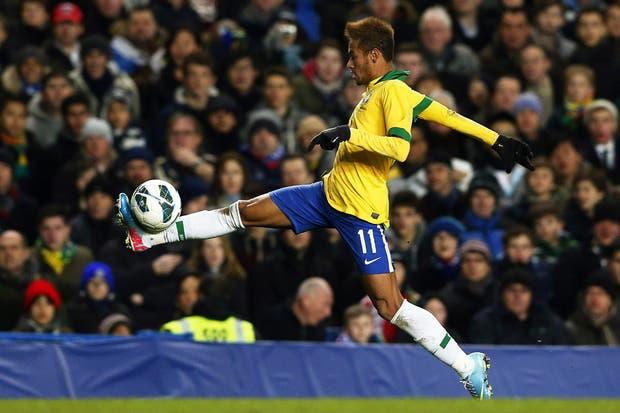 Neymar, en acción