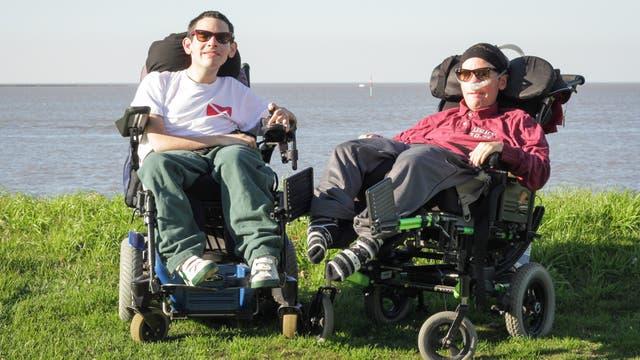 Pepe y su hermano Francisco que falleció hace dos años