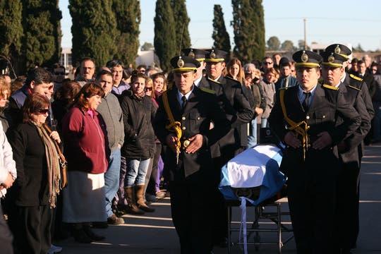 La sargento Karen Krog, de 23 años, acudió a una emergencia y murió de un tiro en la nuca. Foto: LA NACION / Mauro V. Rizzi