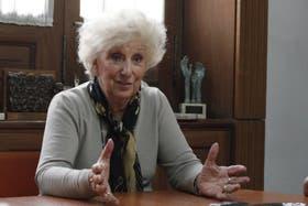 La presidenta de Abuelas, Estela de Carlotto, defendió la designación de César Milani al frente del Ejército