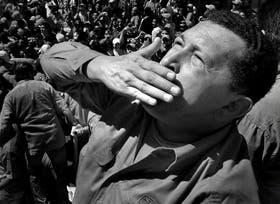 Hugo Chávez, en Guarico, durante un acto de campaña en 2006