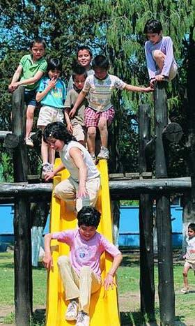 Hogar Jesús de Nazareth, en La Reja, provincia de Buenos Aires. Allí viven 41 chicos al cuidado de una familia