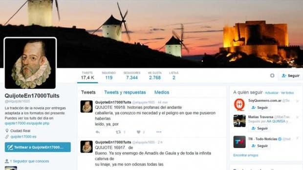 Quijote, M2.0, Twitter