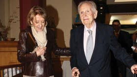 Jorge Zorreguieta y su mujer, el año pasado