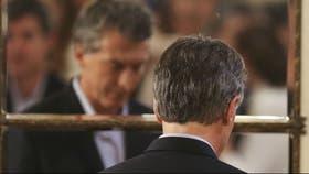 Mauricio Macri, en la Casa Rosada