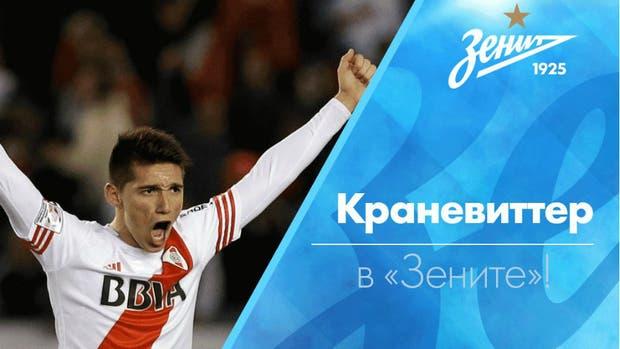 La bienvenida de Zenit a Kranevitter, con su nombre en cirílico