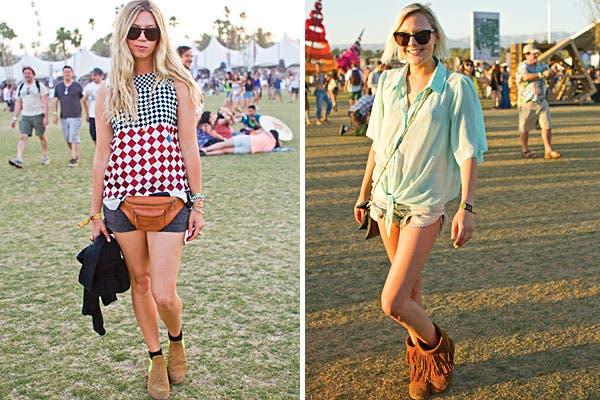 Blusas y camisas combinadas con shorts y botitas. Foto: Gabriela Goldberg