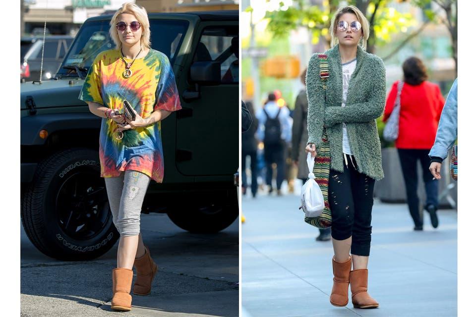 Pijama style: la descubrimos bastante con looks de entrecasa para salir a la calle: botas abrigadas, calzas y remerones o sweaters largos. Foto: OHLALÁ!