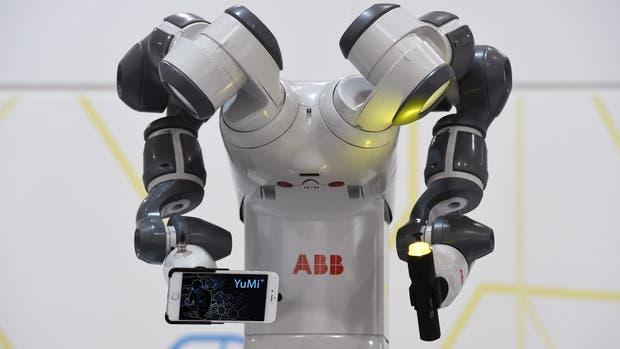 Un robot industrial ABB