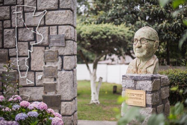 Busto de Maury en Campo Quijano. Foto: Sebastián Pani