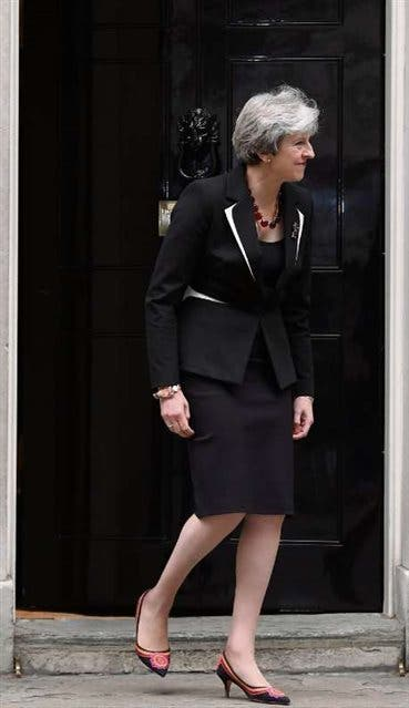 May, ayer, en Downing Street