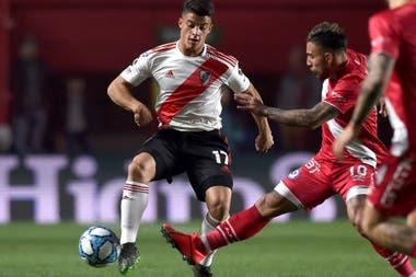 El juvenil Elías López, de 19 años, debutó como lateral derecho de River