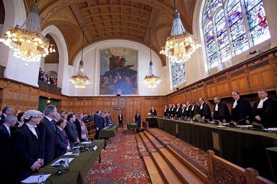 Sesión en la Corte Internacional de Justicia (CIJ) de La Haya, Holanda. Foto: EFE