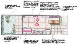 Solución 54: Armá un espacio funcional y aprovechá cada metro