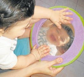 Un bebe durante la realización de la Prueba Nacional de Pesquisa