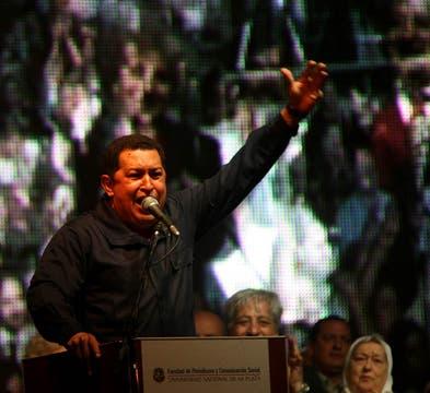 El discurso de Chávez duró alrededor de dos horas. Foto: LA NACION / Santiago Hafford